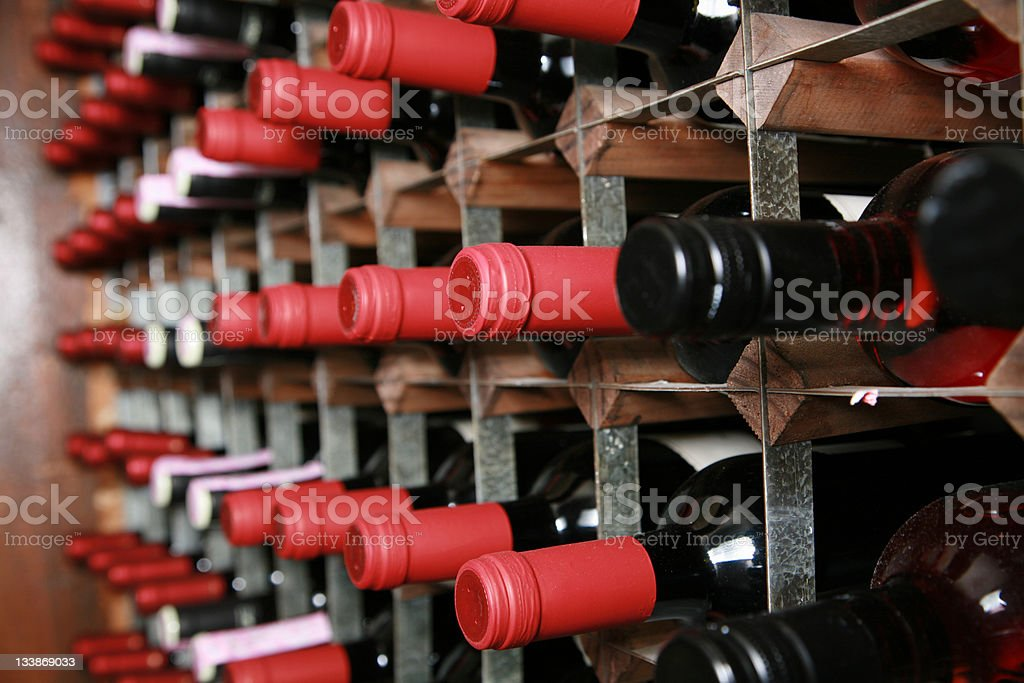 Wine Cellar Rack royalty-free stock photo
