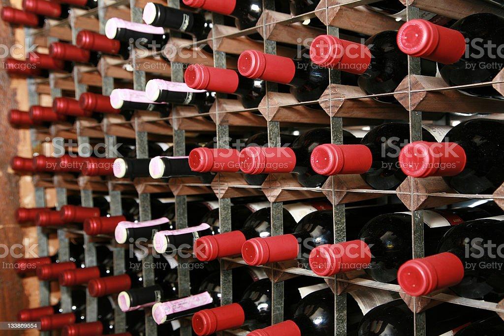 Wine Cellar Rack royalty-free stock photo