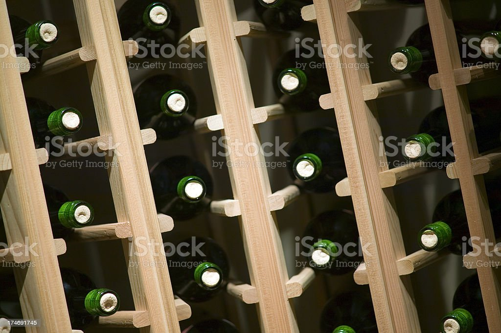 wine cellar room basement storage bottles stacked royalty-free stock photo