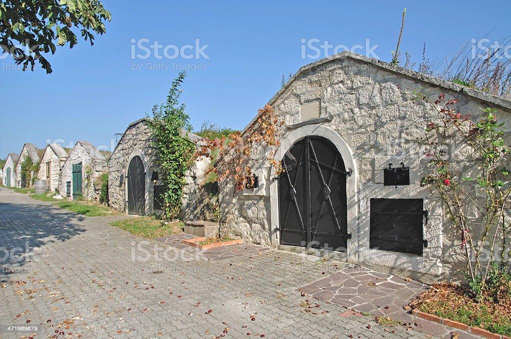 Wine Cellar,Breitenbrunn,Lake Neusiedl,Austria stock photo