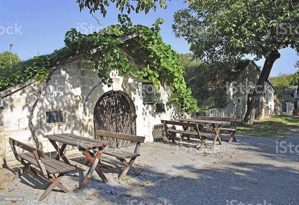 Wine Cellar,Neusiedler See,Burgenland,Austria stock photo