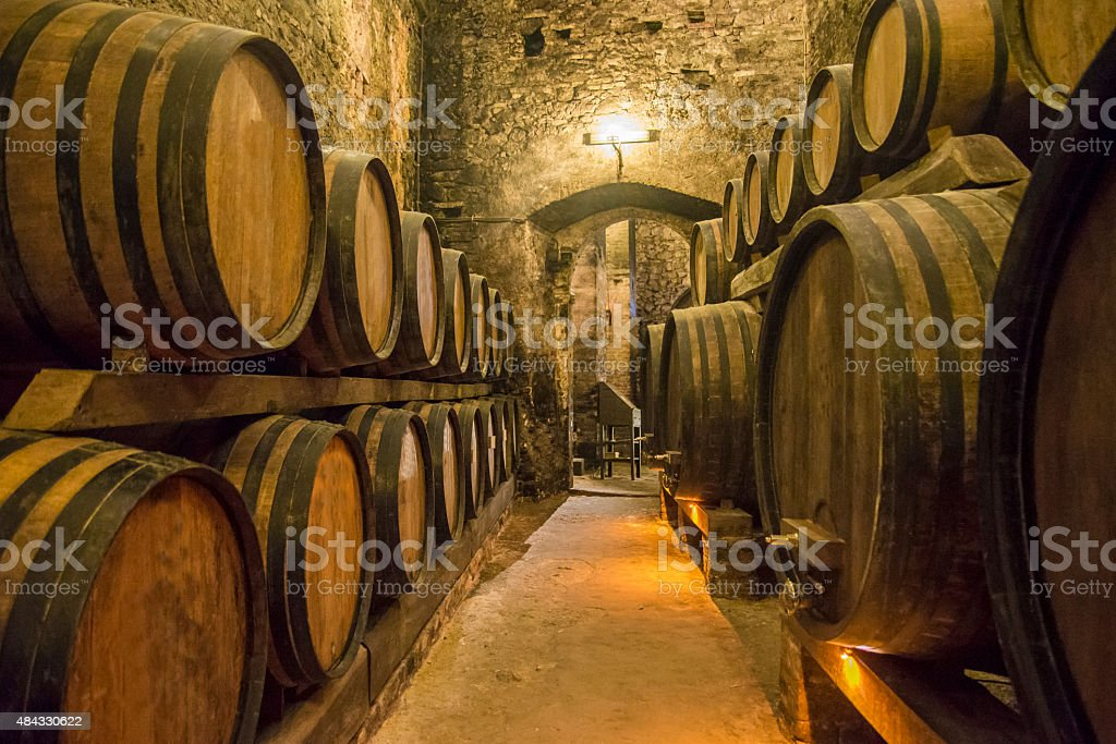 Wine cellars stock photo