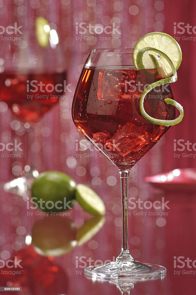 wine cocktail royalty-free stock photo
