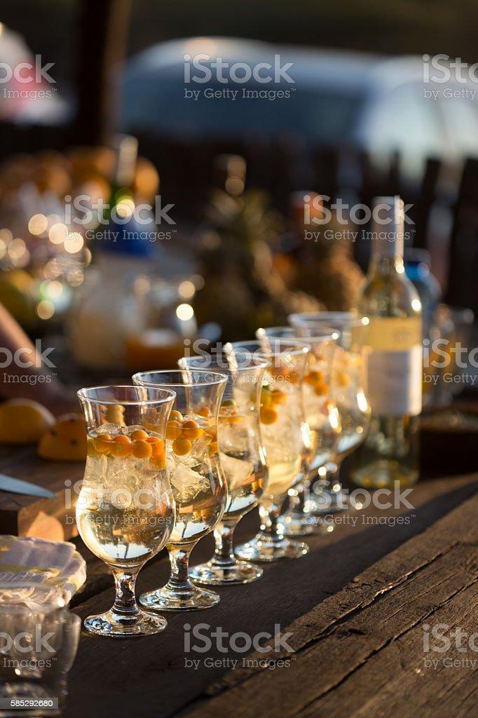 Wine Cocktails stock photo