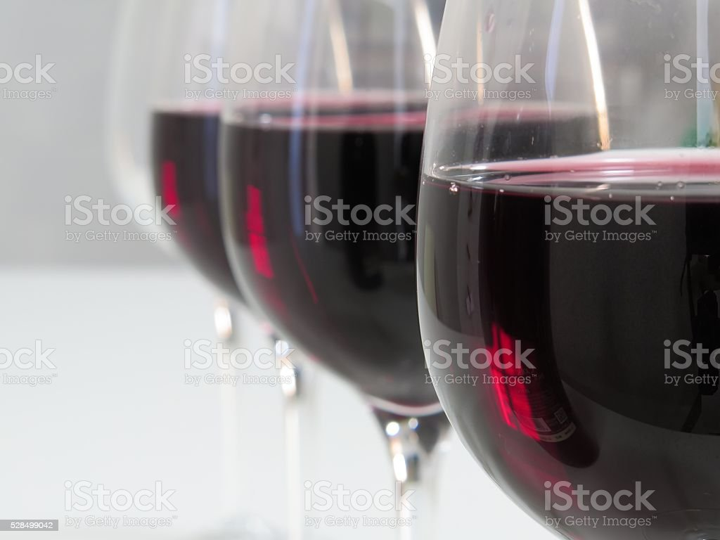 Wine competition stock photo