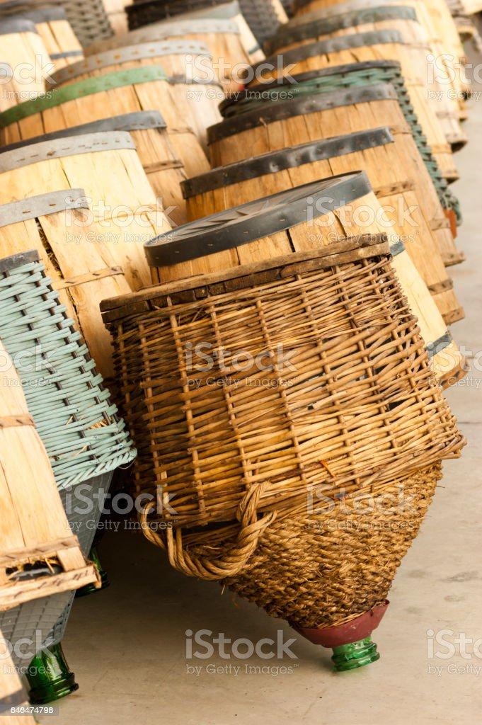 Wine container stock photo