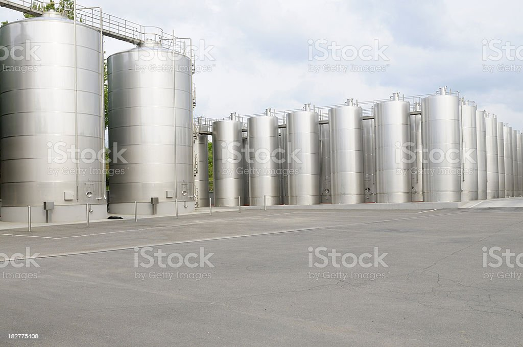 Wine containers royalty-free stock photo