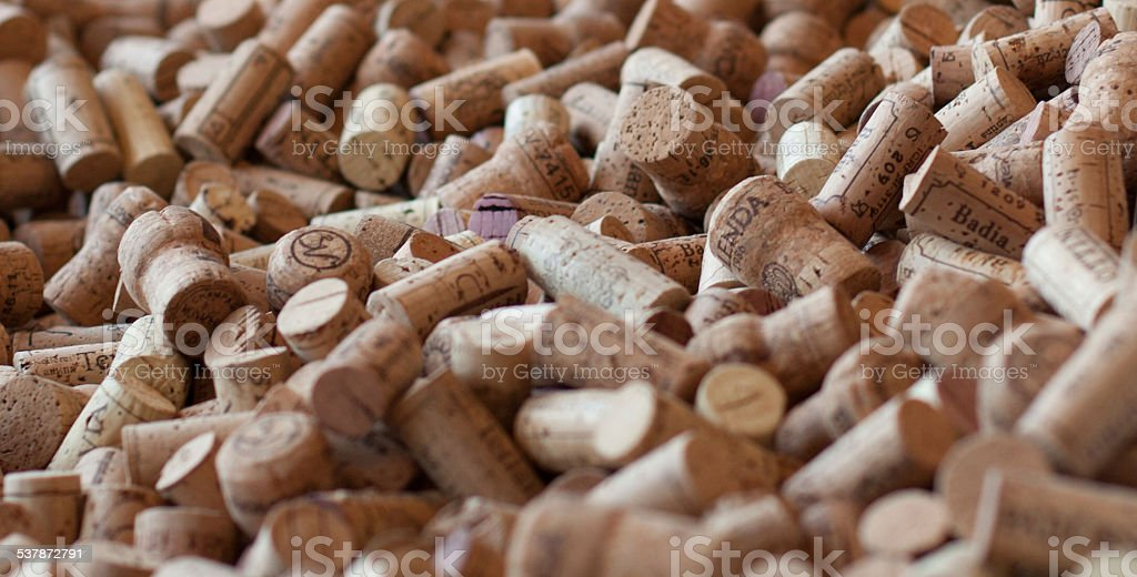 Wine Cork Background stock photo