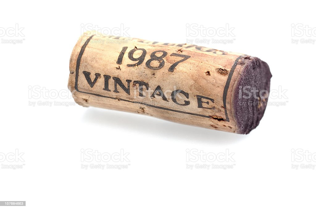 Wine cork from a vintage port royalty-free stock photo