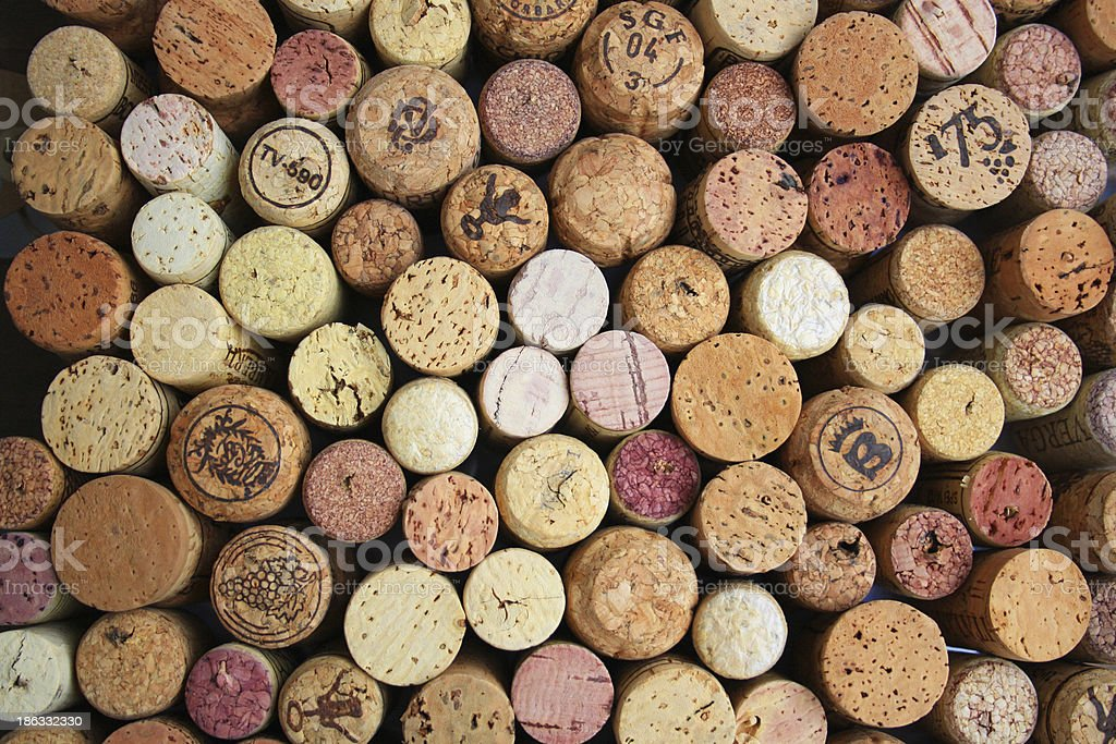 wine cork pattern stock photo