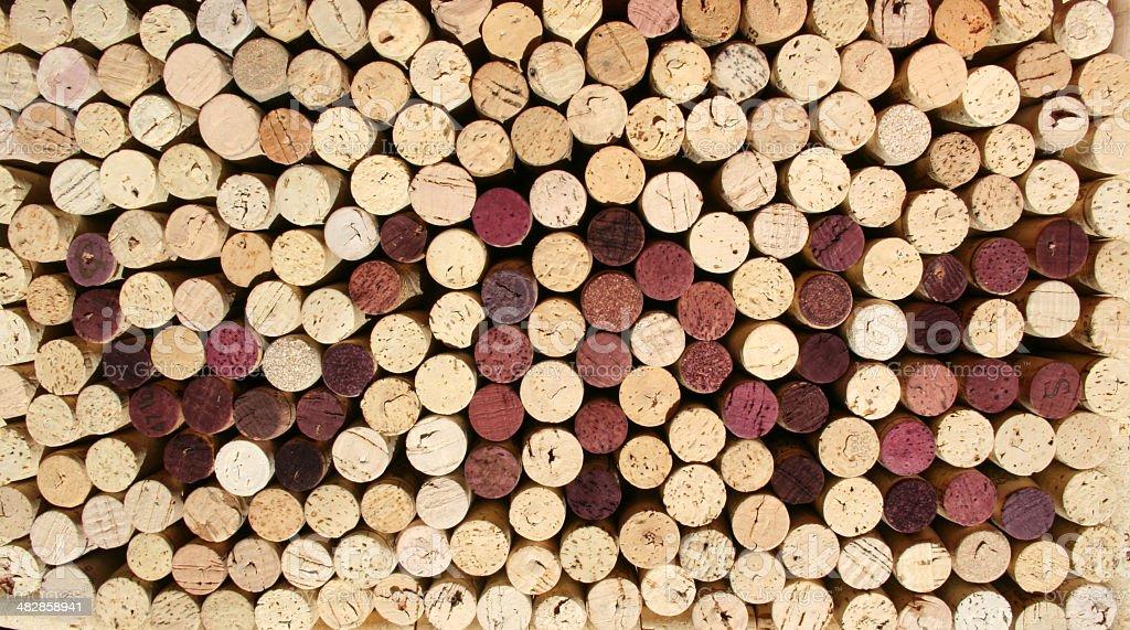 Wine Cork Pattern royalty-free stock photo