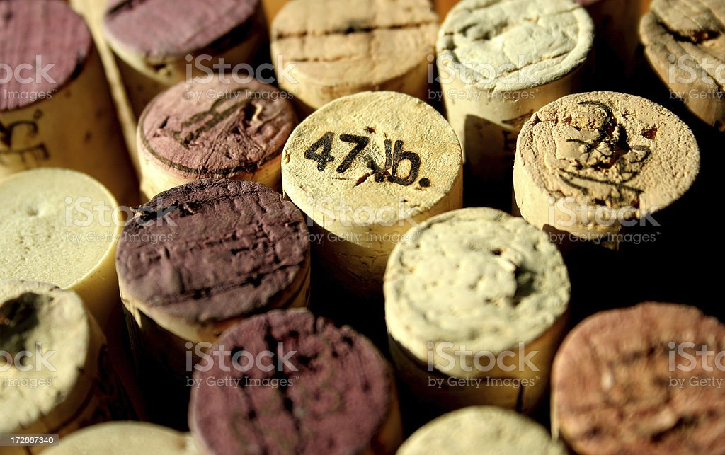 wine cork tops royalty-free stock photo