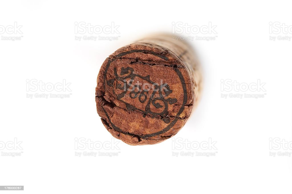 Wine Cork - view from top royalty-free stock photo