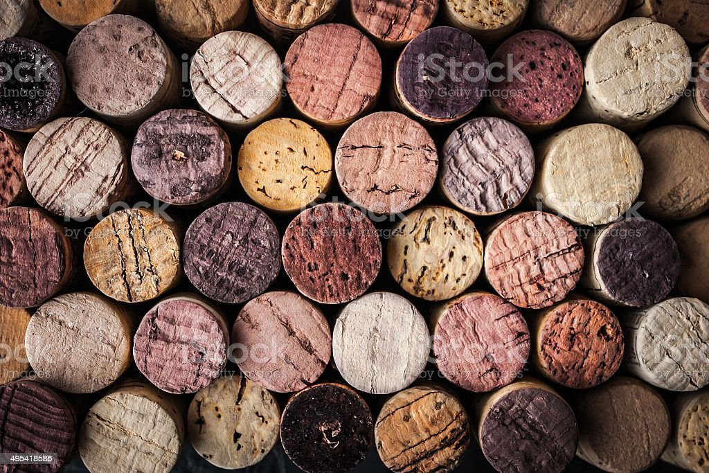 Wine corks background close-up stock photo