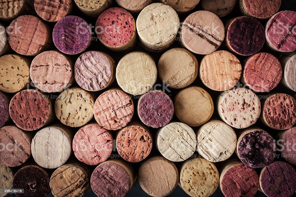 Wine corks background horizontal stock photo