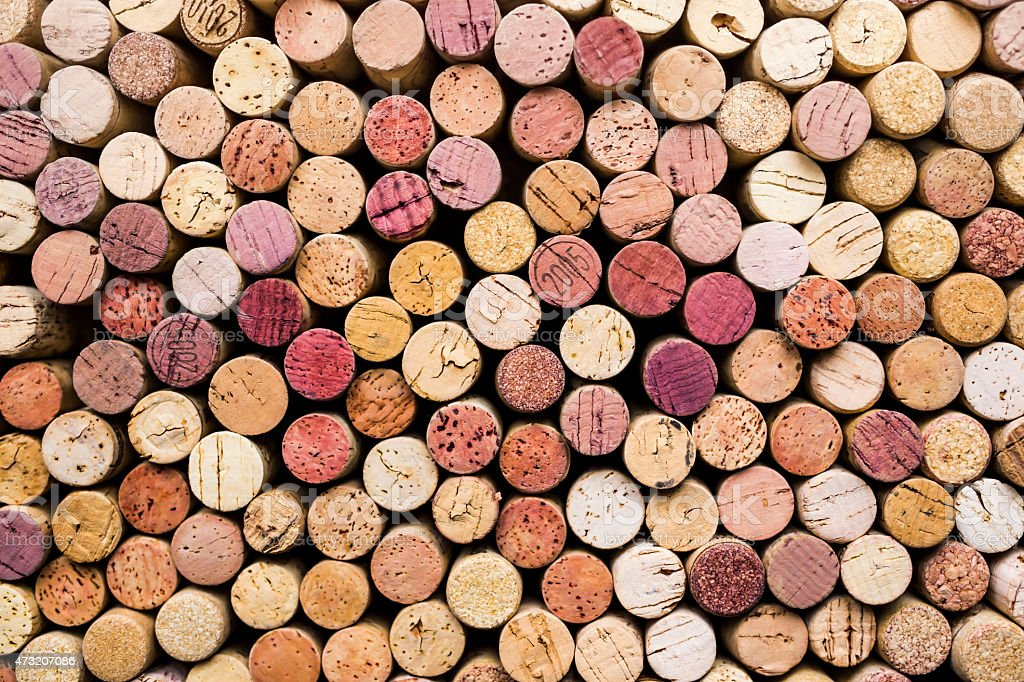 wine corks background stock photo