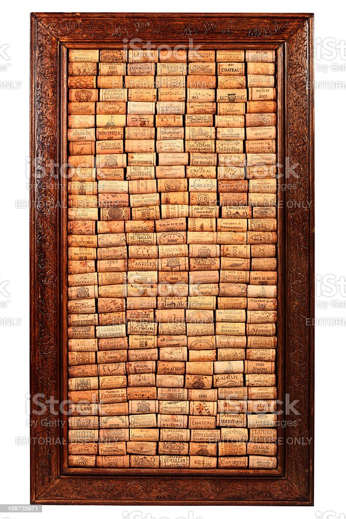 Wine Corks Frame stock photo