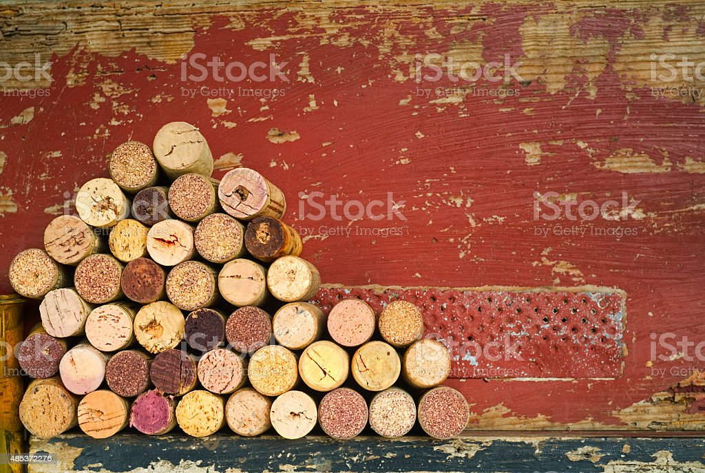 wine corks, free copy space stock photo
