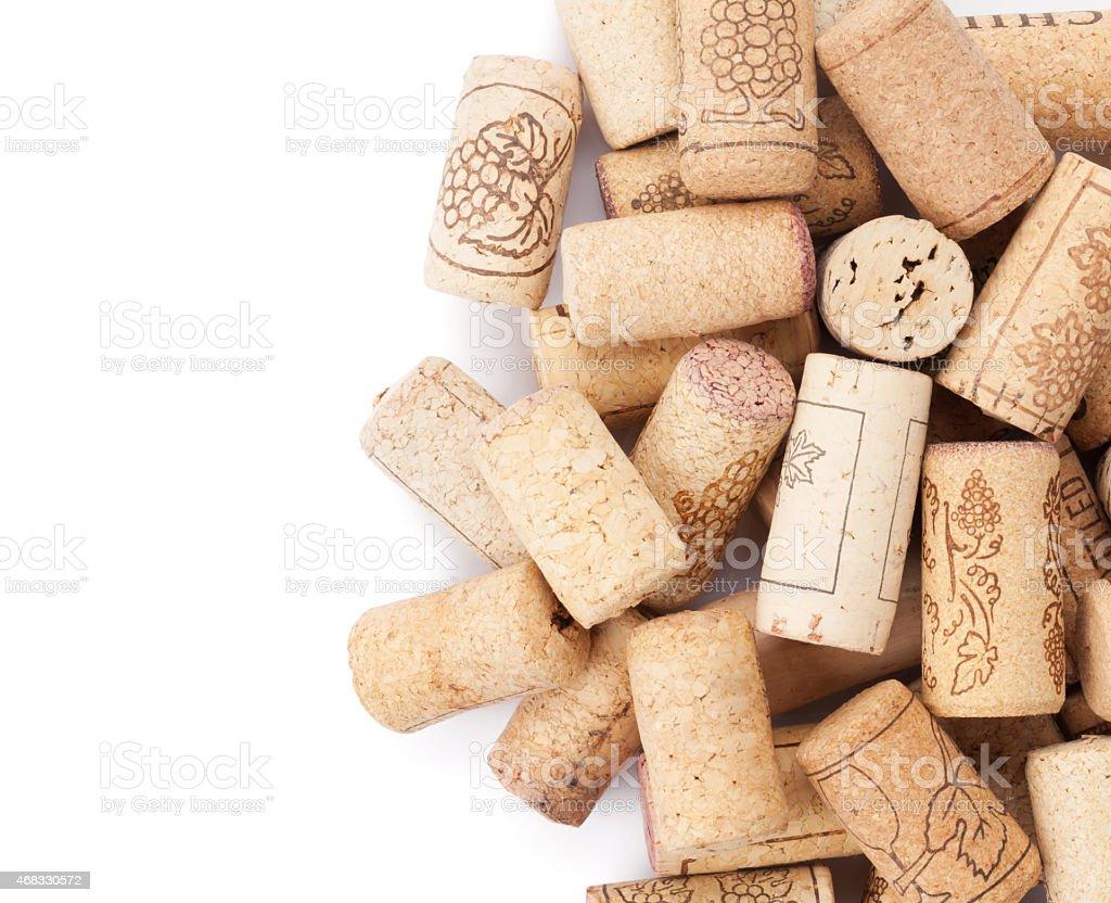 Wine corks heap stock photo