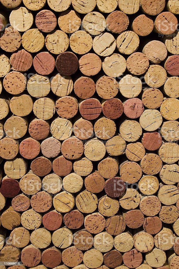 Wine Corks Stacked stock photo