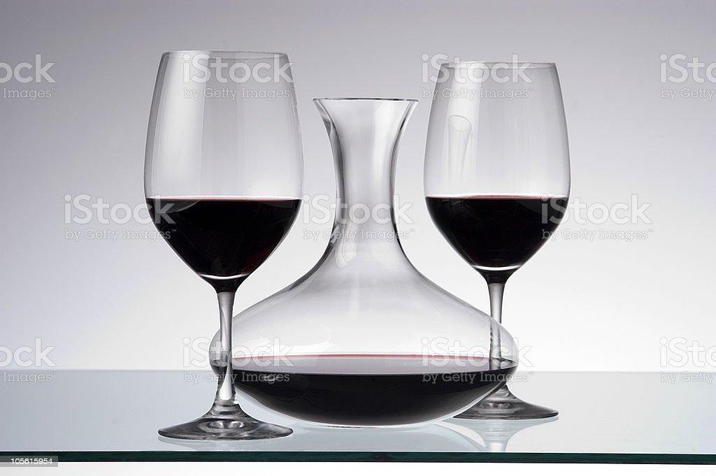 wine decanter royalty-free stock photo