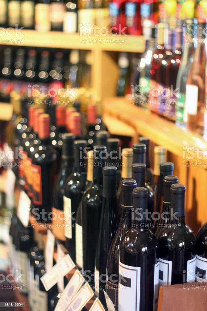 Wine Display royalty-free stock photo