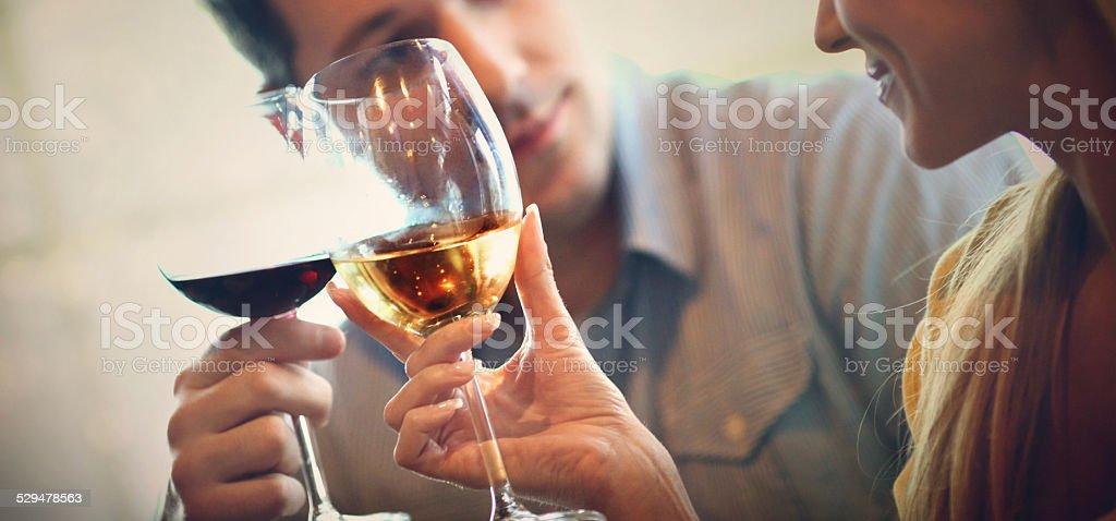 Wine drinkers. stock photo