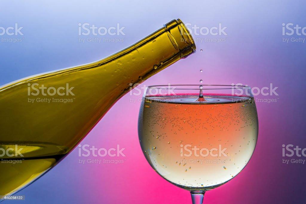 Wine Drip stock photo