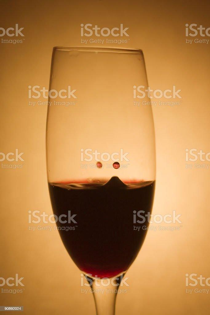 Wine Drop royalty-free stock photo