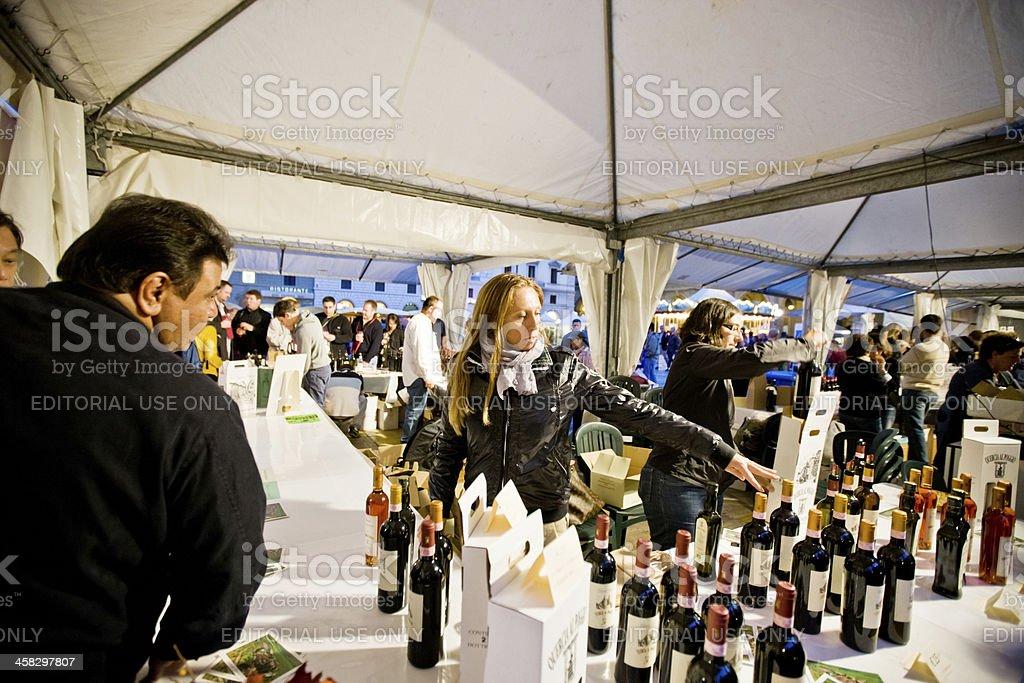 Wine Fair Emozioni dal Chianti, Florence, Italy stock photo