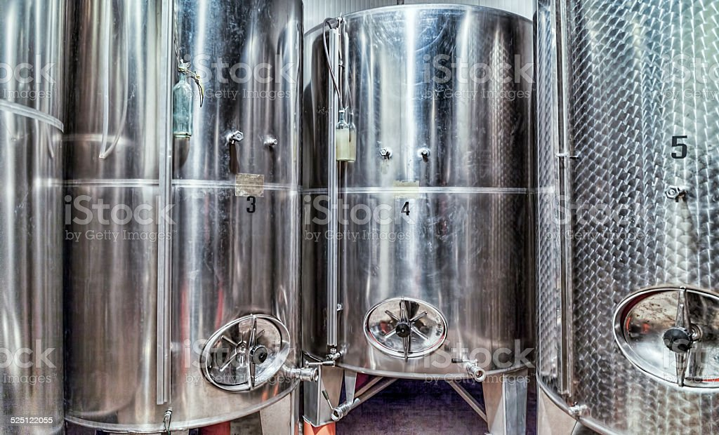 Wine Fermenters stock photo