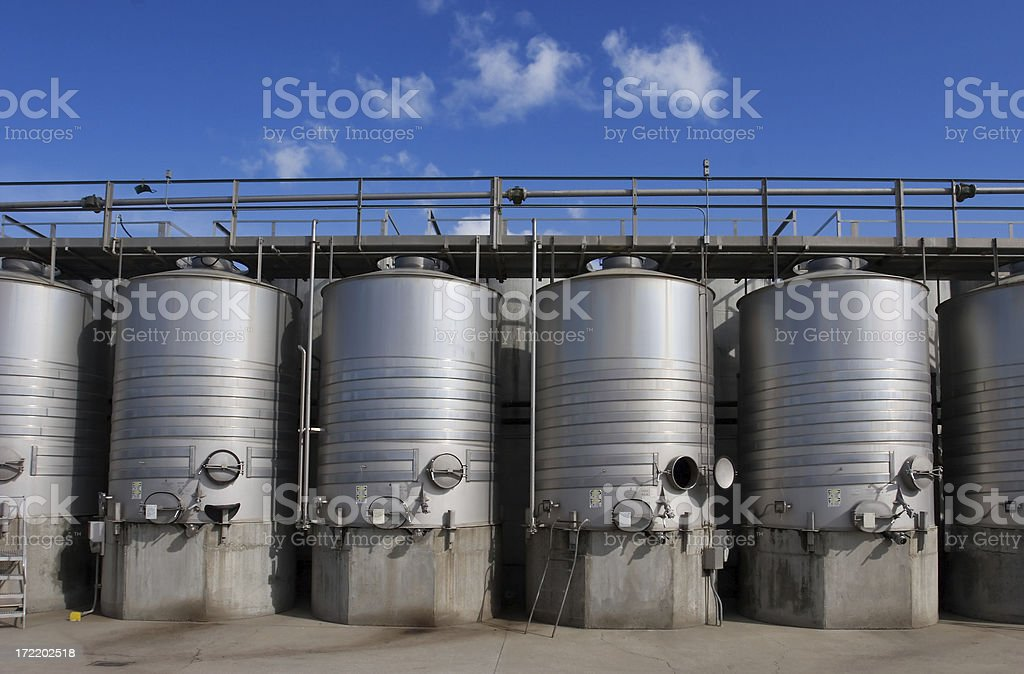 Wine Fermentors, California royalty-free stock photo
