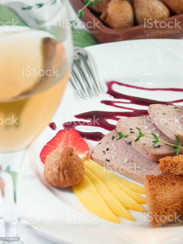 Wine Foie Gras royalty-free stock photo
