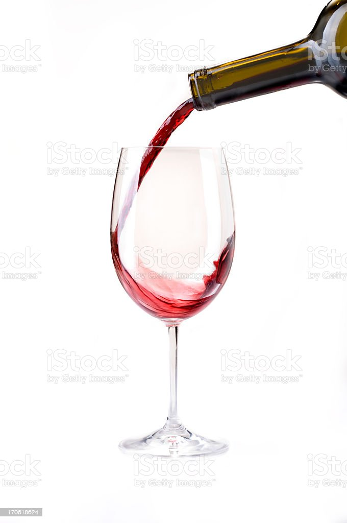 Wine Pour royalty-free stock photo