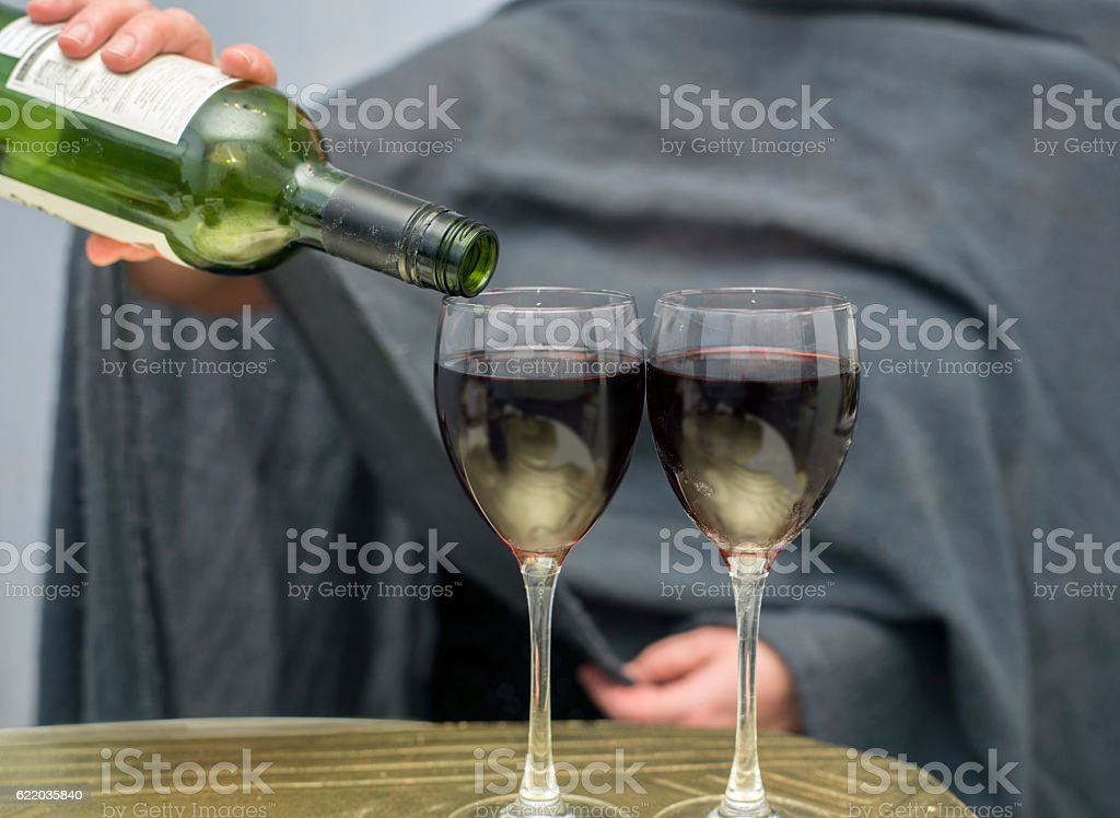 Wine For Two stock photo