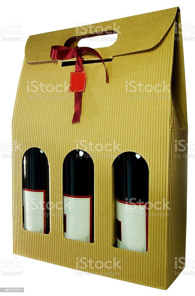 Wine gift box stock photo
