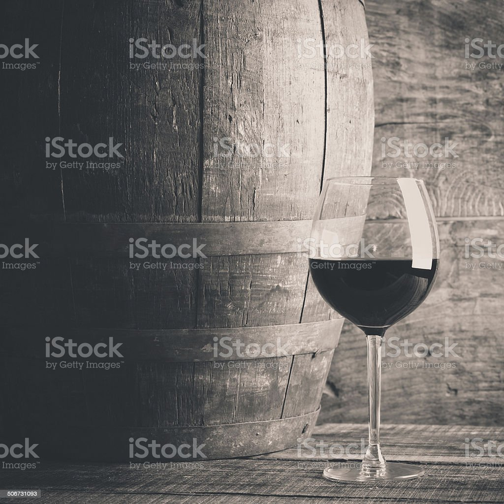 wine glass and barre stock photo