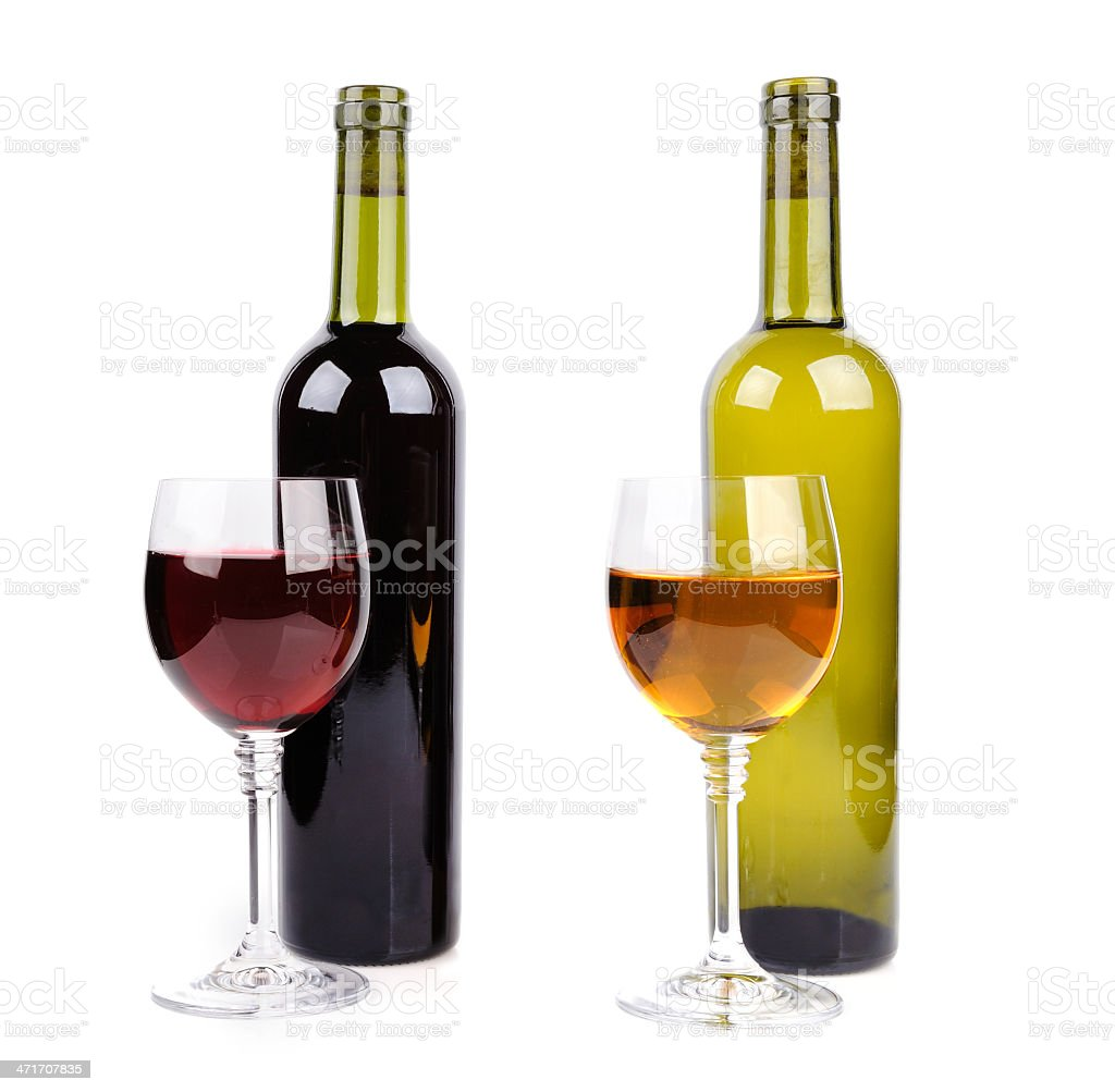 Wine glass and bottle royalty-free stock photo