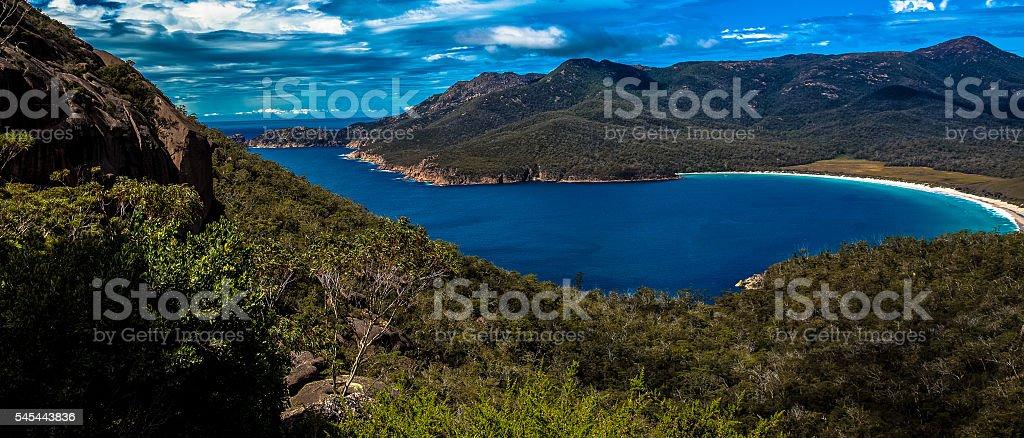 Wine Glass Bay Tasmania stock photo