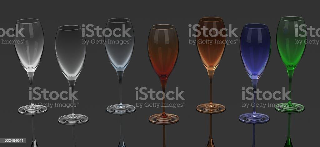 Wine glass - colors. stock photo