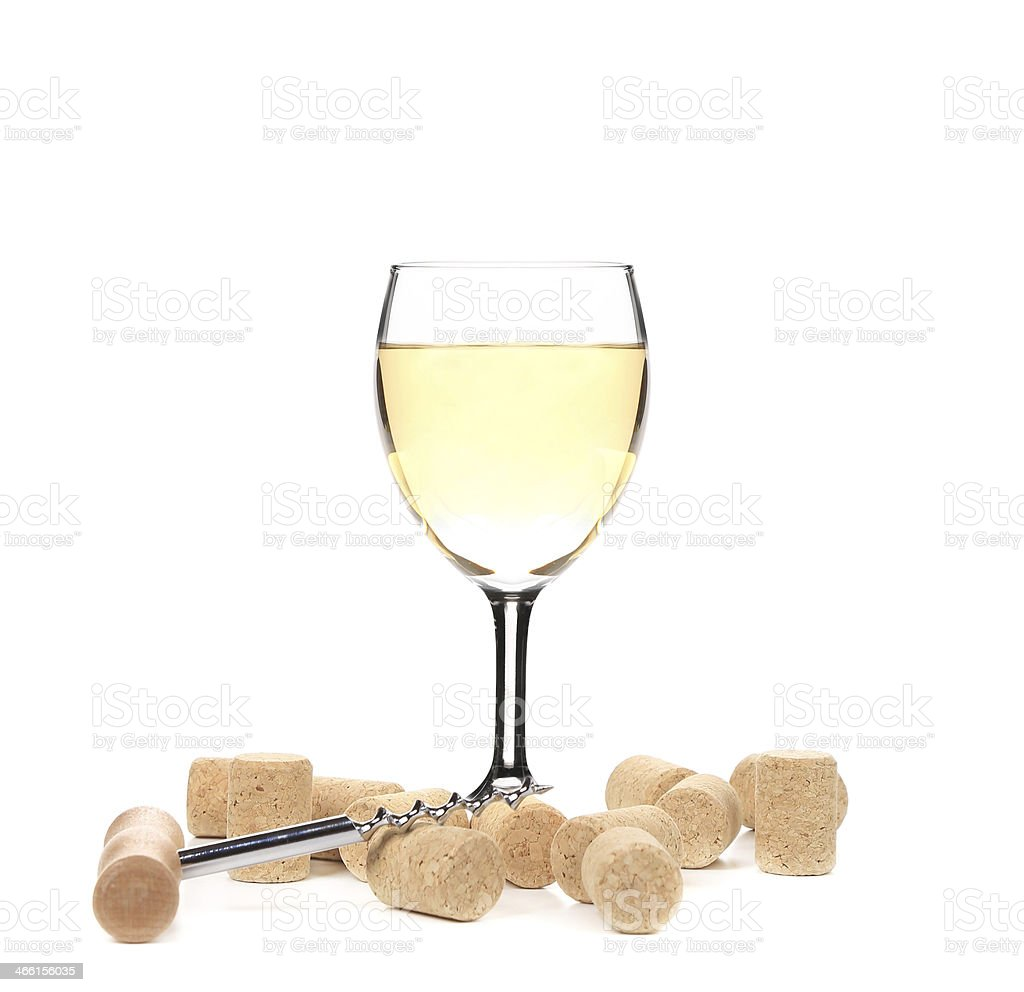 Wine glass composition. stock photo
