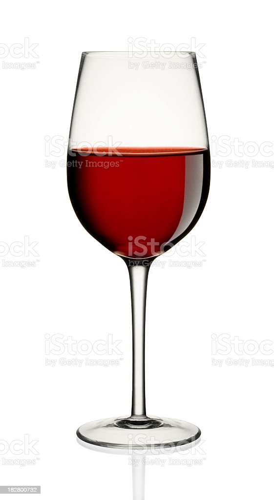 Wine glass filled with red wine royalty-free stock photo