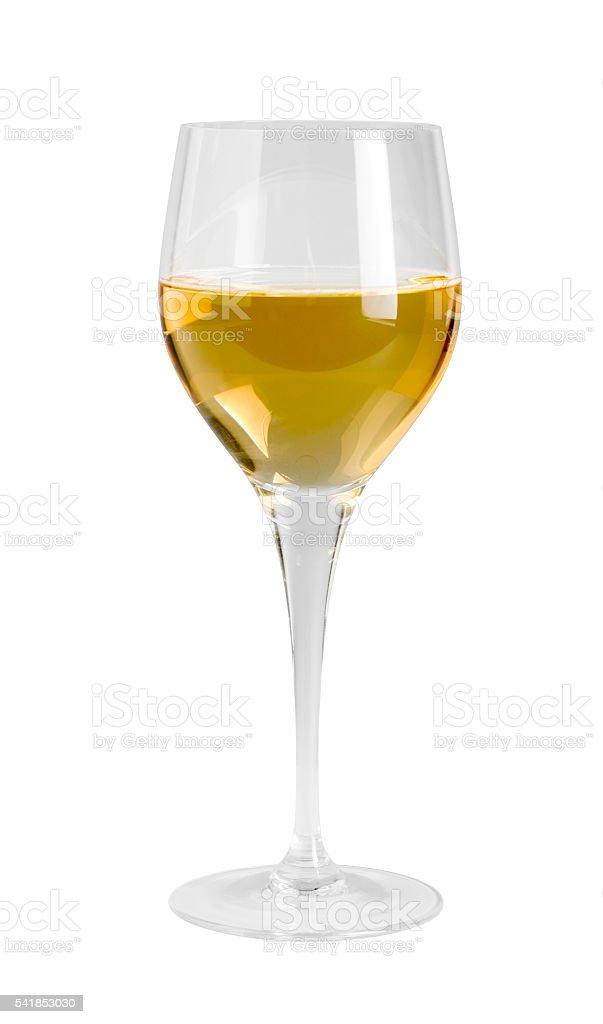 wine glass in white back stock photo