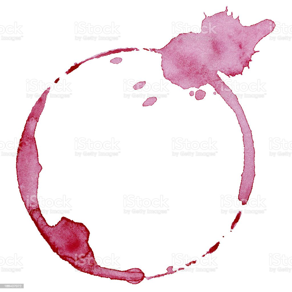 Wine glass mark stock photo