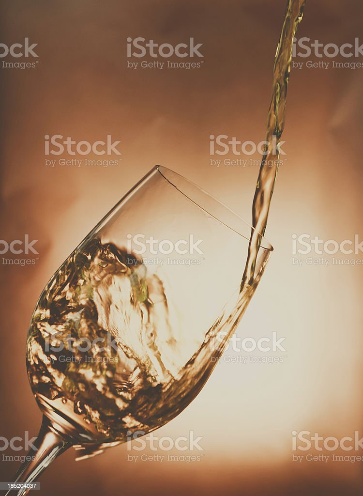 Wine glass old tone Color 5 royalty-free stock photo