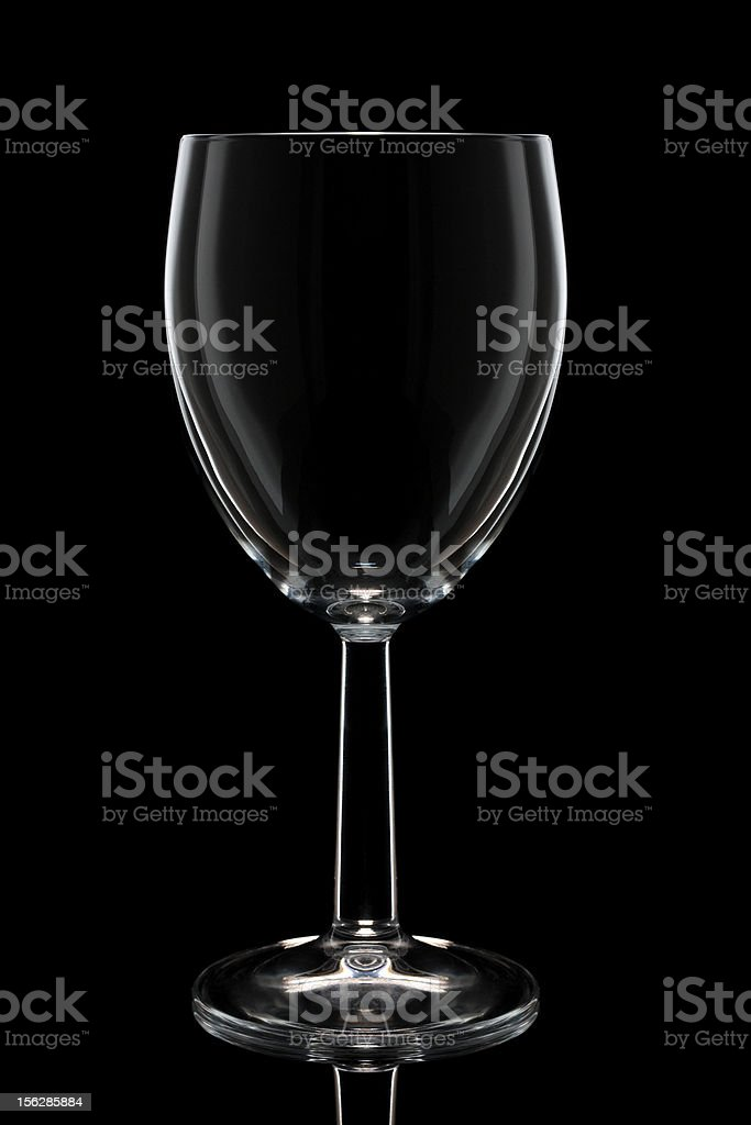 Wine glass on black royalty-free stock photo