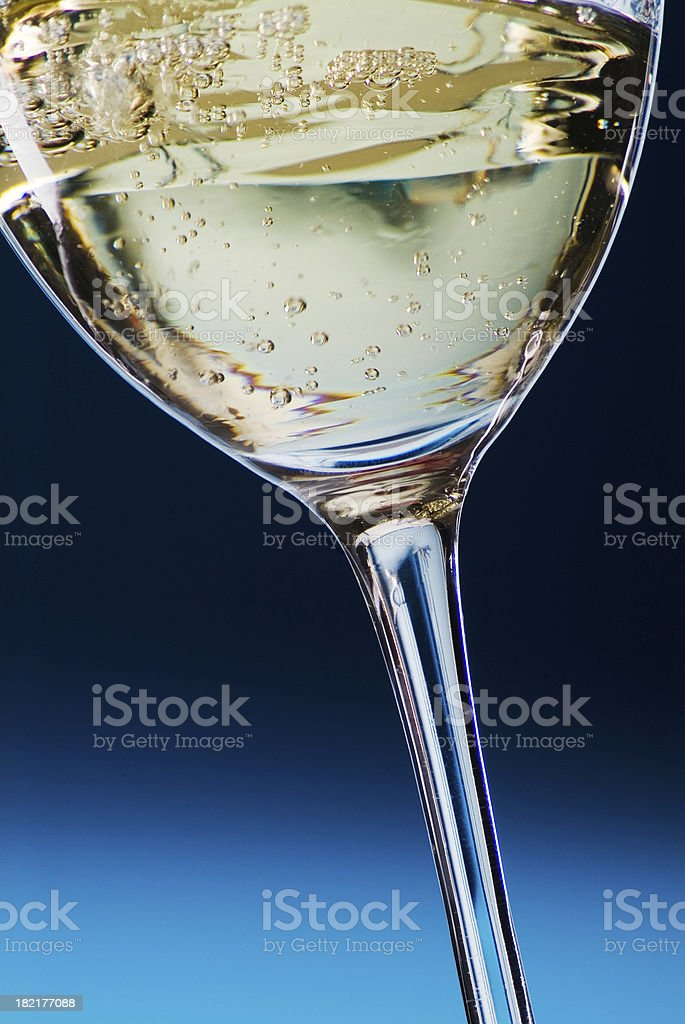 Wine Glass on Blue royalty-free stock photo