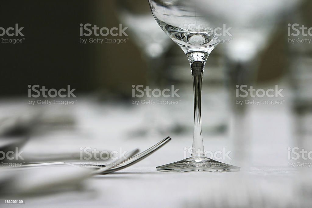 Wine glass on table royalty-free stock photo