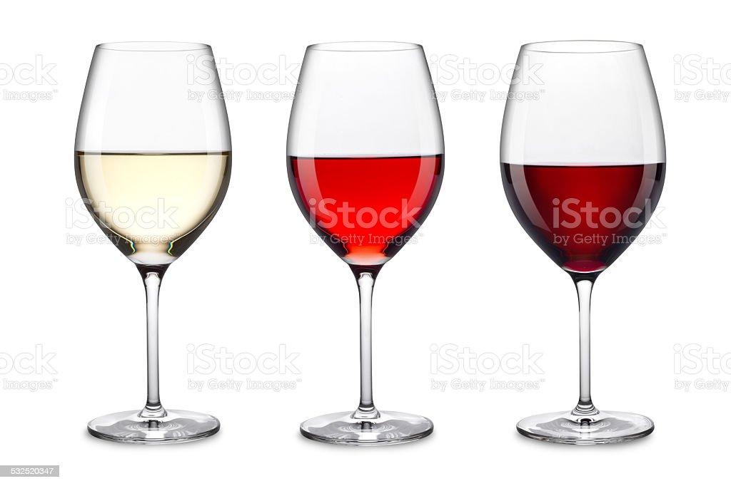 wine glass set stock photo