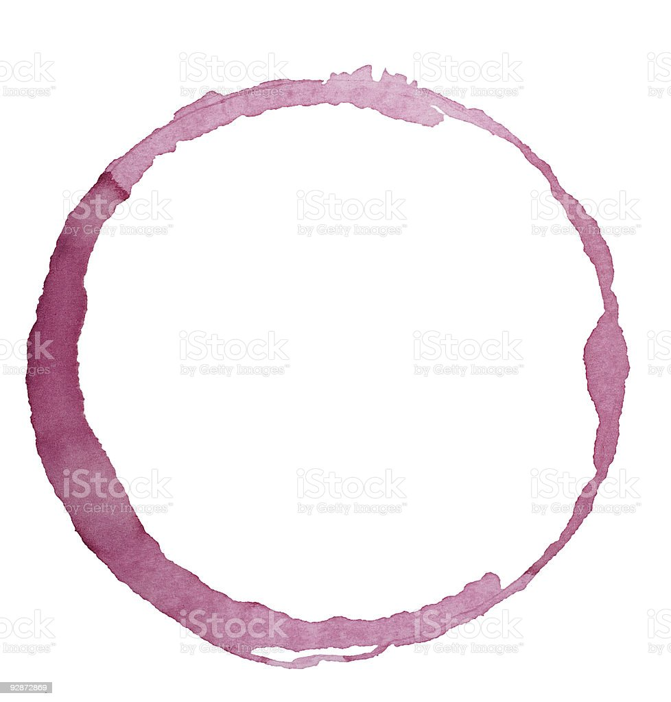 Wine glass stain stock photo